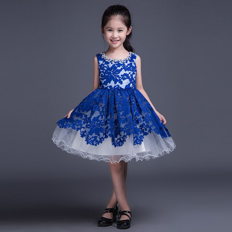 Red Lace Kids Ball Gown Little Girls Pageant Dress Short ... Kids Formal Dresses