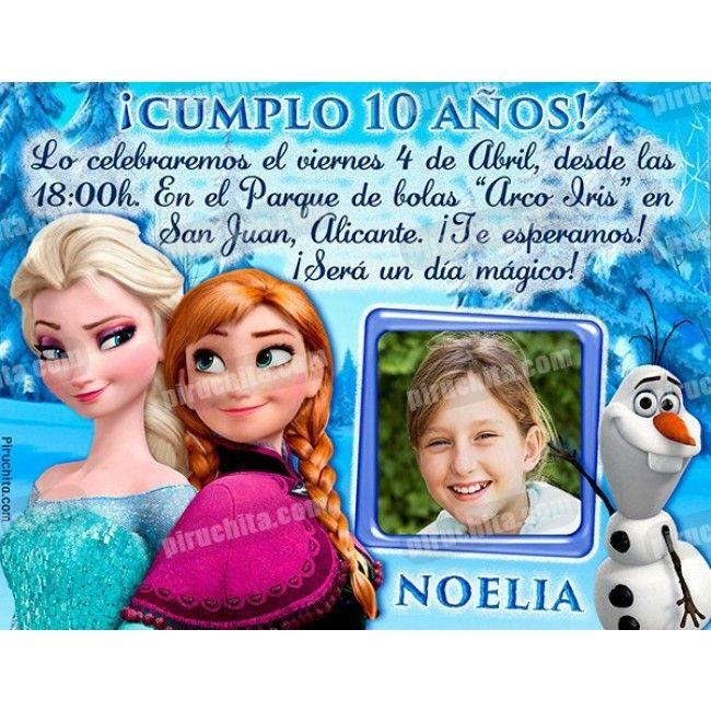 Invitación De Cumpleaños De Frozen Personalizada 01