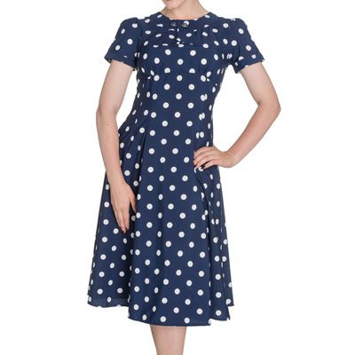 De jurk blauw wit