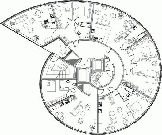 Interesting Floor Plans 51941cdfb3fc4bc96a00013f_snailtower-k-nnapu-padrik