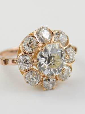 Diamond Cluster Vintage Engagement Ring Topazery Rg3634 Eight