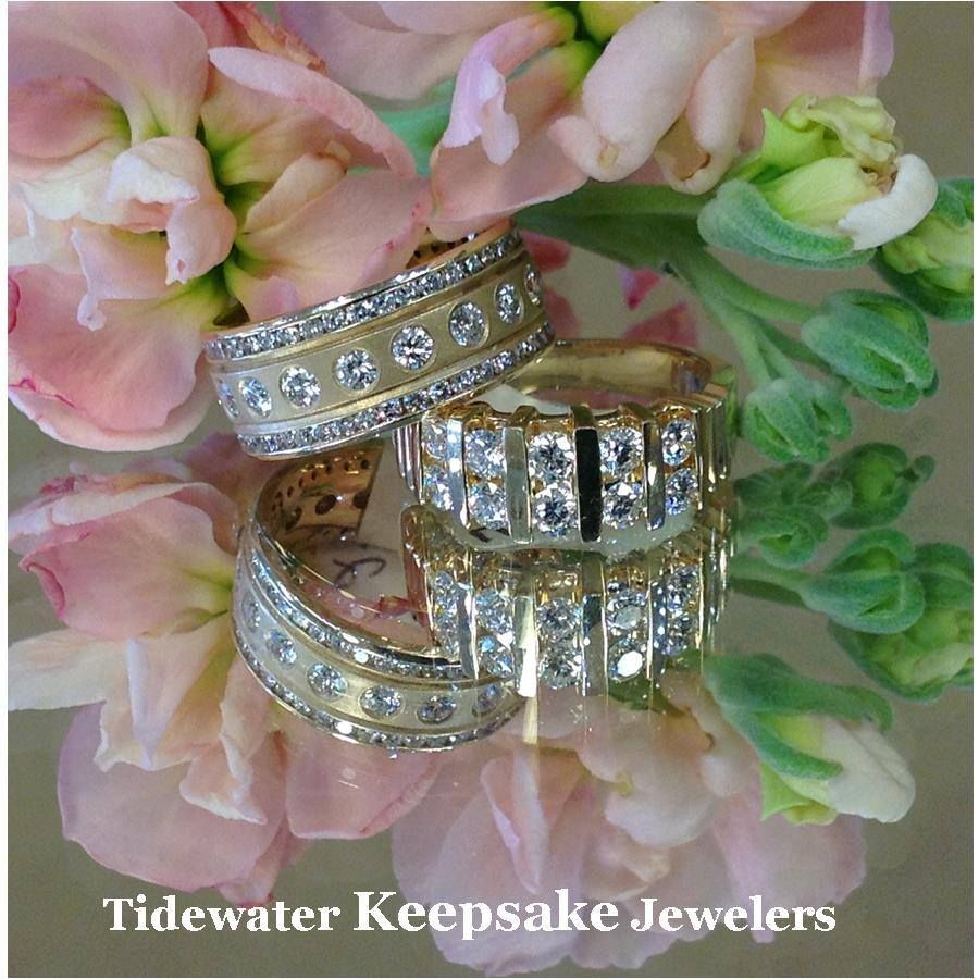 Diamond anniversary bands by Tidewater Keepsake Jewelers.