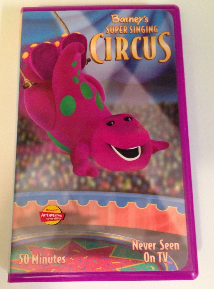 Barney - Super Singing Circus clamshell Case Never Seen On