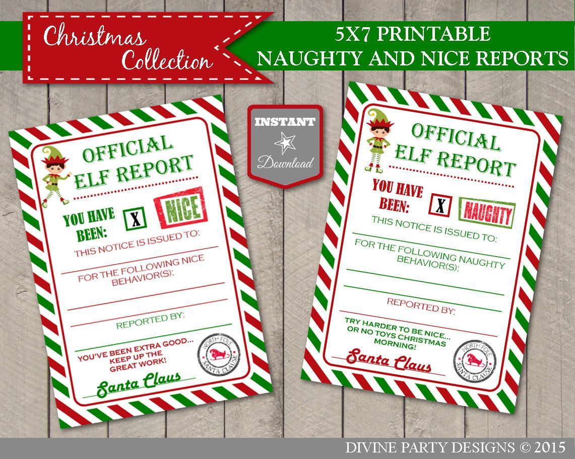 INSTANT DOWNLOAD Printable Girl Elf 5x7 Naughty and Nice Reports / Editable - You Type / Christmas Shop / Item #3027 ,  #5x7 #Christmas #Download #EDITABLE #Elf #elfontheshelfideasfortoddlersprintables #girl #Instant #item #naughty #nice #Printable #reports #shop #Type