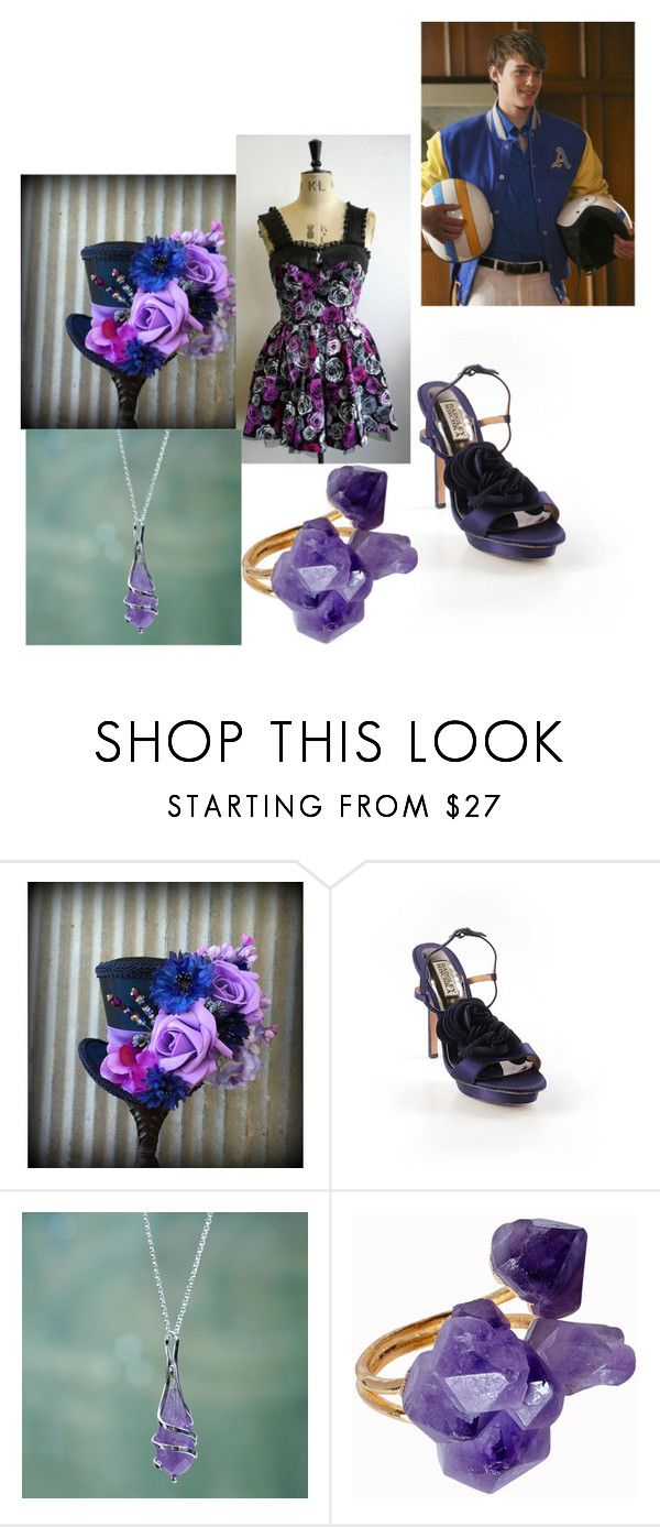 """Mad Hatters#3"" by samantha-erwin ❤ liked on Polyvore featuring Badgley Mischka, NOVICA, Helix & Felix and Disney"