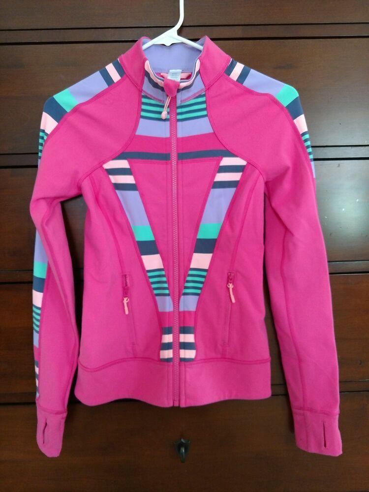 c1f85f9a22e458 Ivivva Athletica Lululemon Girls Size 12 Full Zip Jacket With Thumb Holes  #fashion #clothing