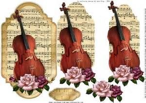 Violin 3D card topper