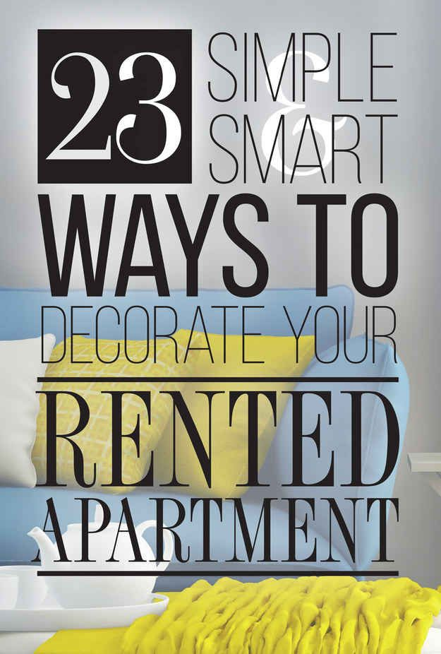 Cool Ways To Decorate Your Apartment Decor 23 cleverly creative ways to decorate your rented apartment