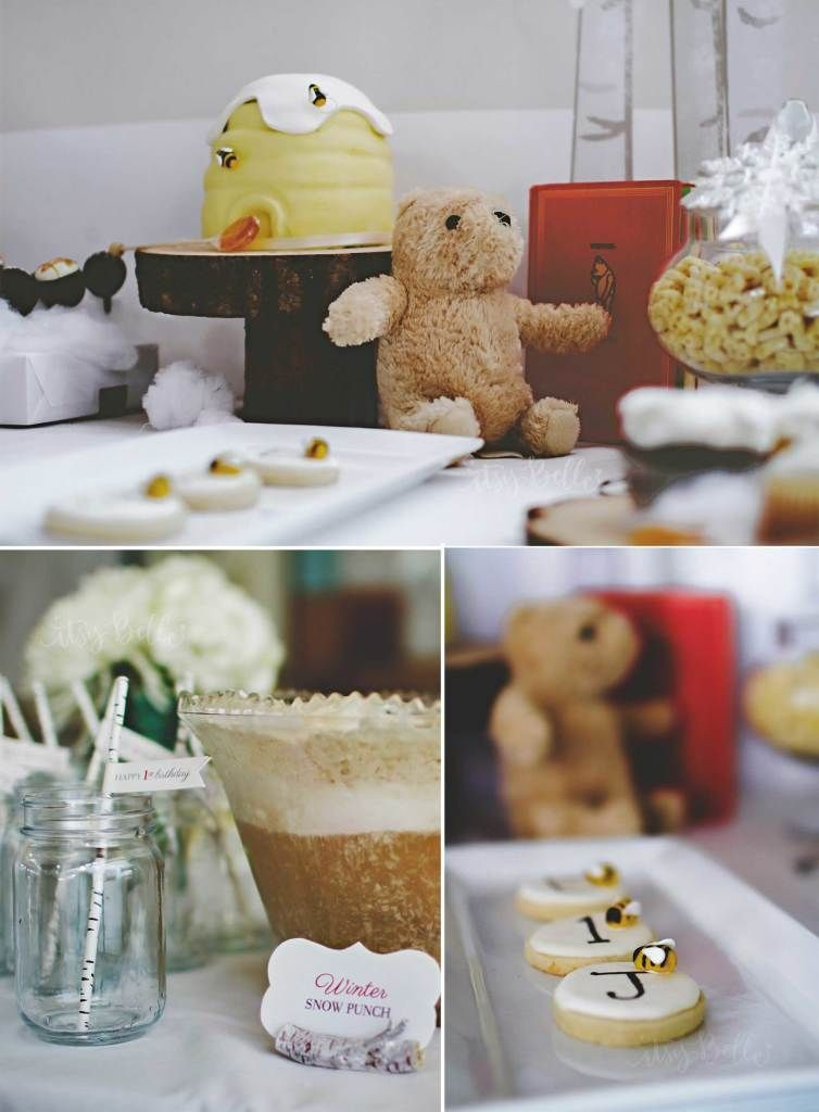 Winter in the 100 Aker woods - Gender Neutral Vintage Winnie the Pooh Joint Birthday Party