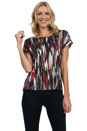 The Stain Glass Top in Black by Ella Moss at CoutureCandy.com