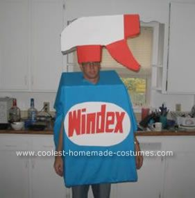 Homemade Windex Man Halloween Costume Halloween used to be a time to be scary but now-a-days humor seems to be more and more prevalent around the last day ... & Coolest Homemade Windex Man Halloween Costume | Pinterest ...