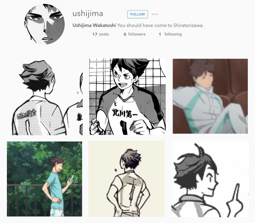 Haikyuu Manga Vs Shiratorizawa: Haikyuu Characters On Instagram