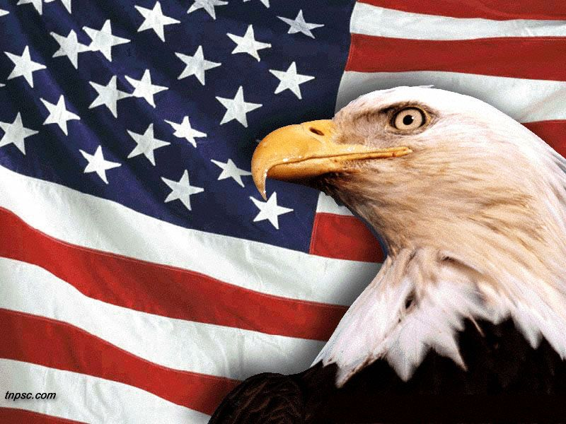 American Flag With Bald Eagle Remembering All Who Have Served And Are Serving God Bless America