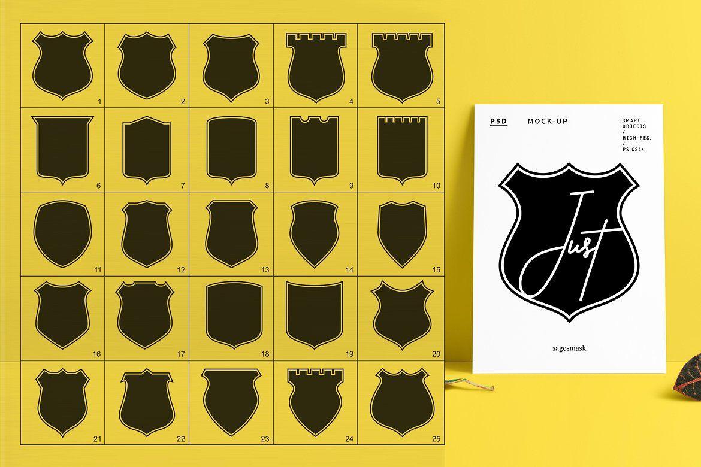 300 Shield For Logo & Badge Badge, Vector logo, Logos
