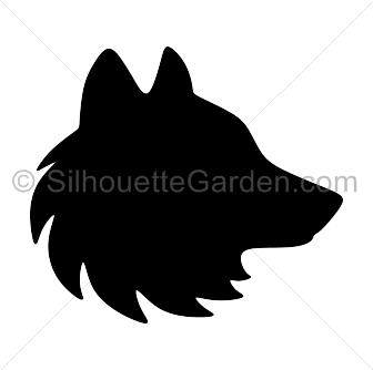 wolf head silhouette clip art download free versions of the image rh pinterest com Wolf Head Logo wolf head clip art free