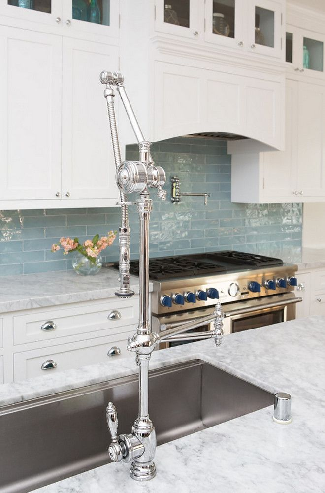 tiles are Walker Zanger, style is cafe and color is water | Blue ...