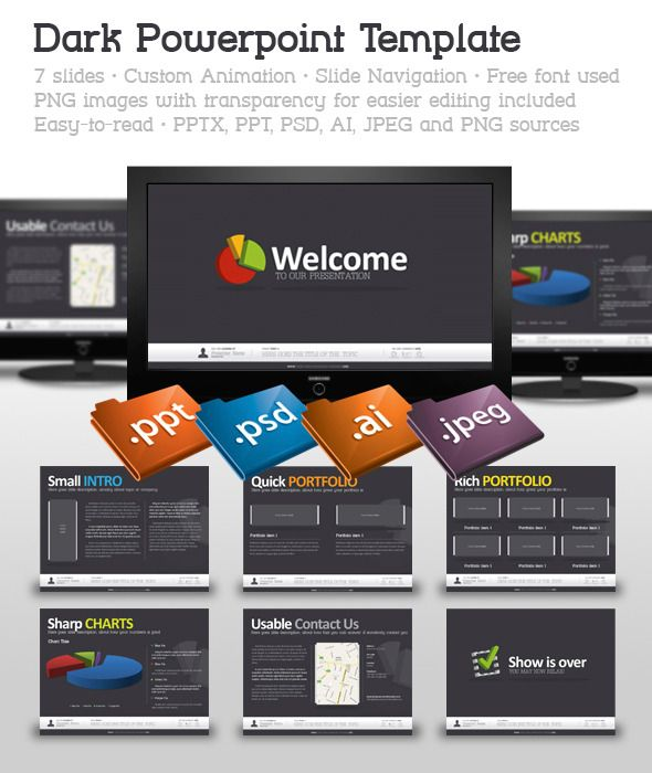 dark powerpoint template | font logo, fonts and logos, Powerpoint templates