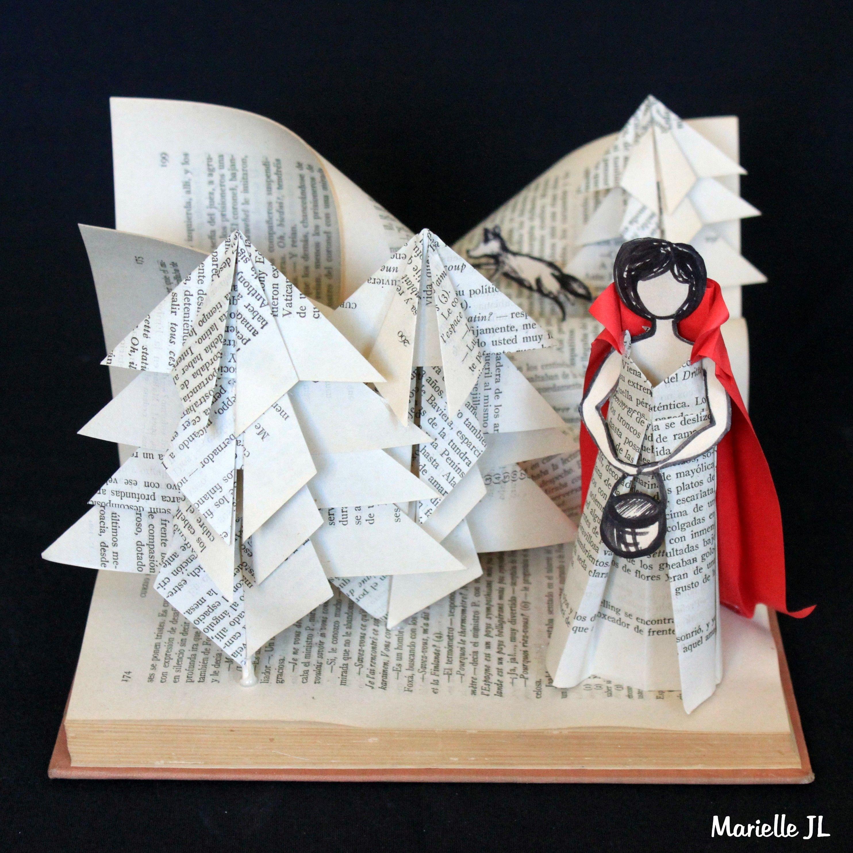 Book Art :Little Red Riding Hood - Livre d'artiste : Le Petit chaperon Rouge - Libro de artista : Caperucita Roja . Marielle JL