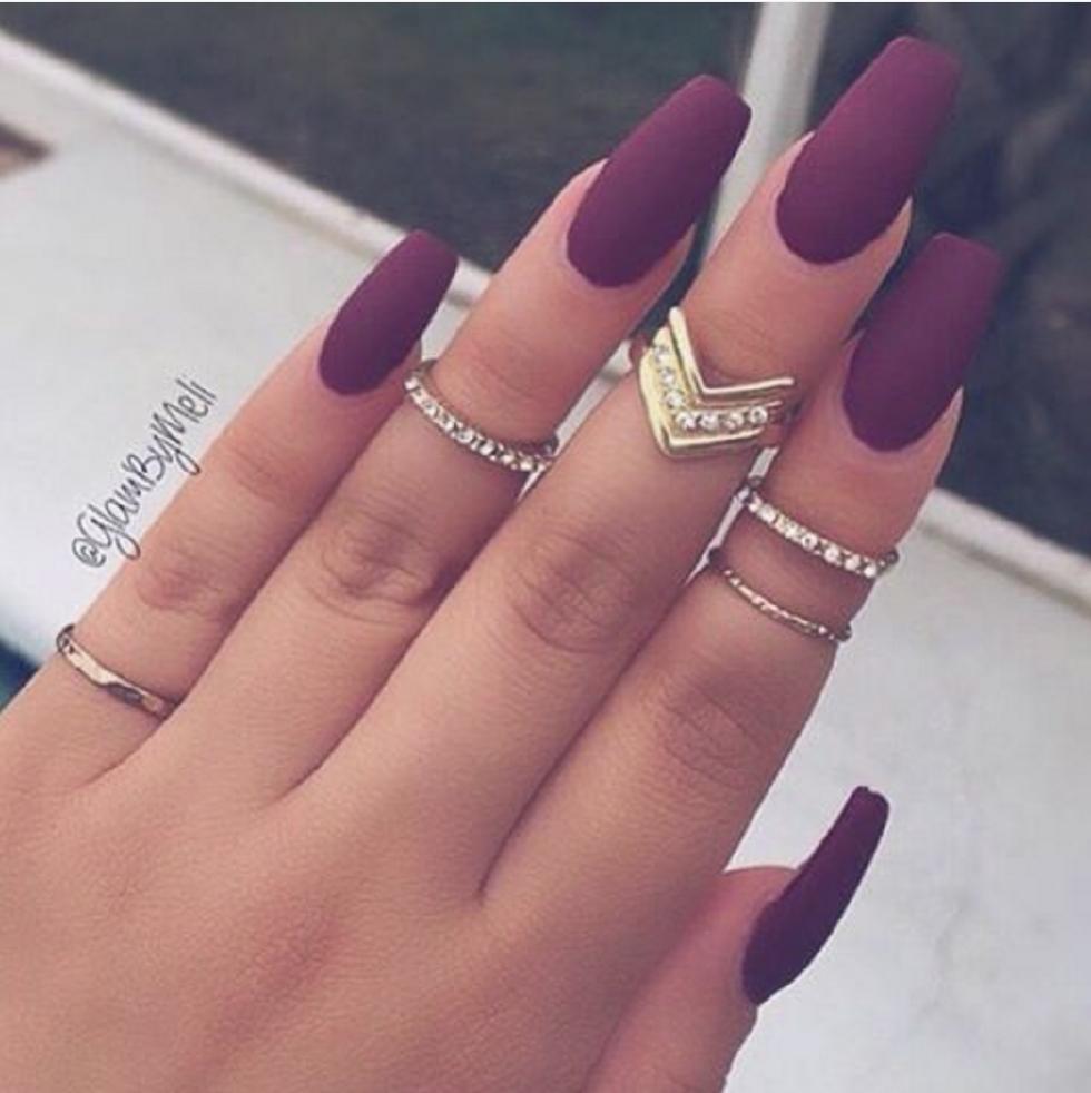 Red matt   Naglar h/v -16/-17   Pinterest   Makeup and Manicure