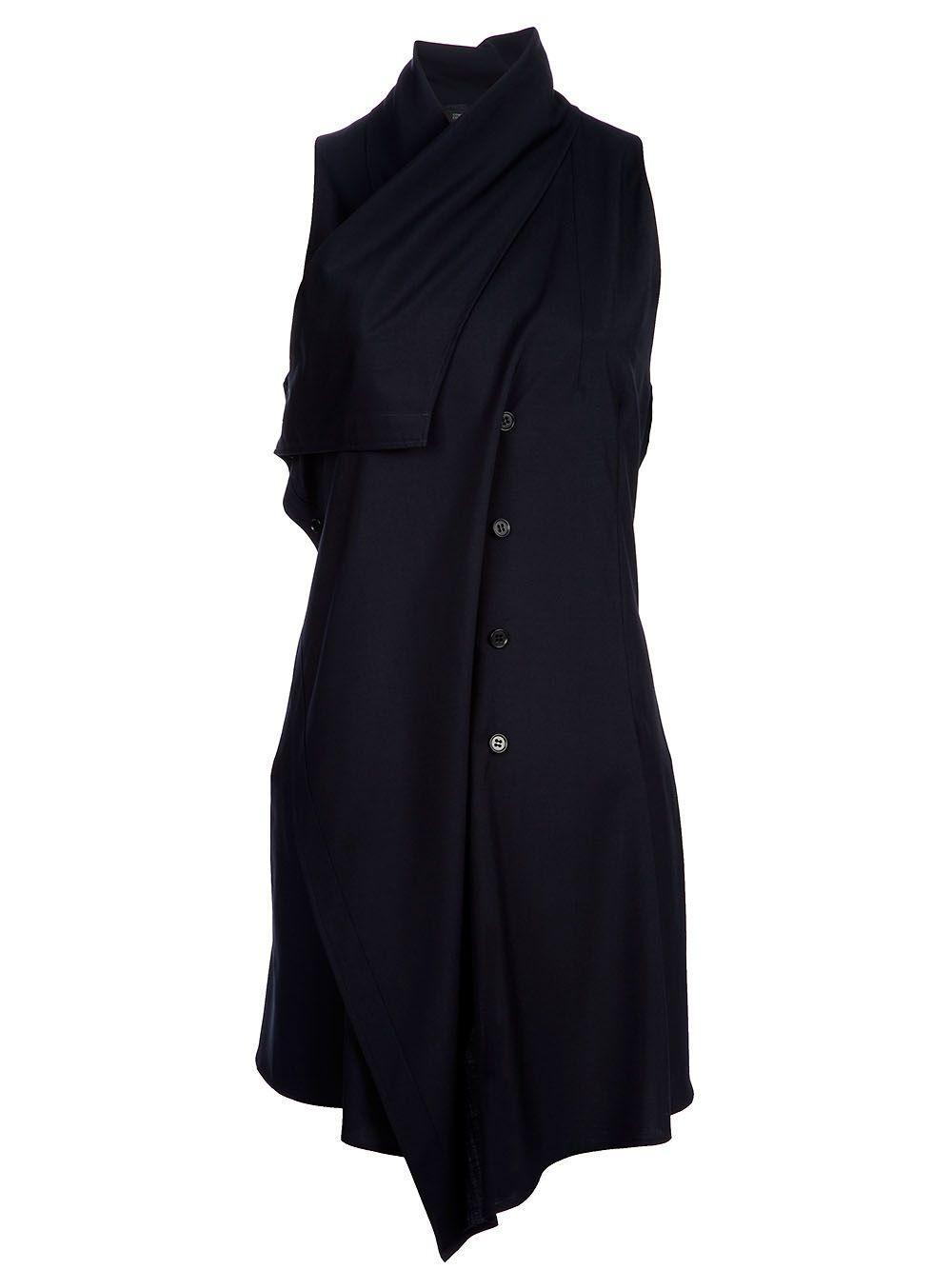 Yohji Yamamoto Sleeveless Wool Top