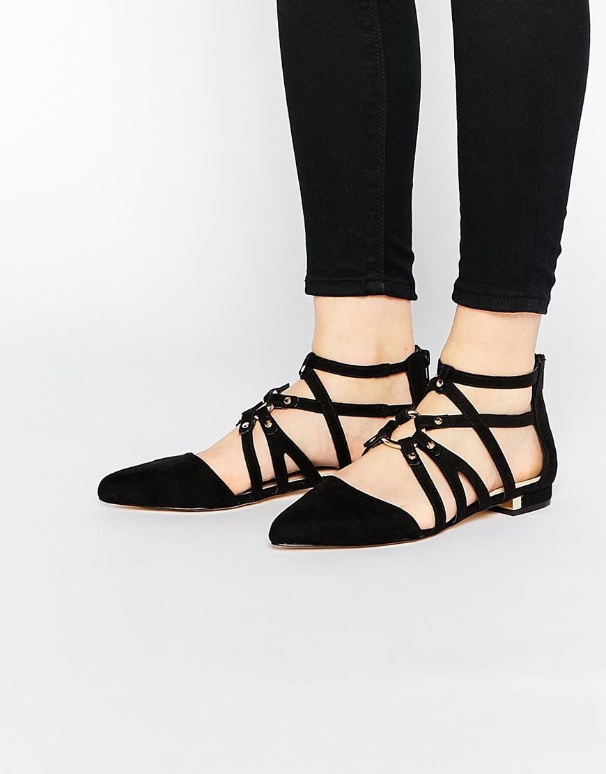 69b2d0f218ee Image 1 of ASOS LORI Caged Pointed Ballet Flats