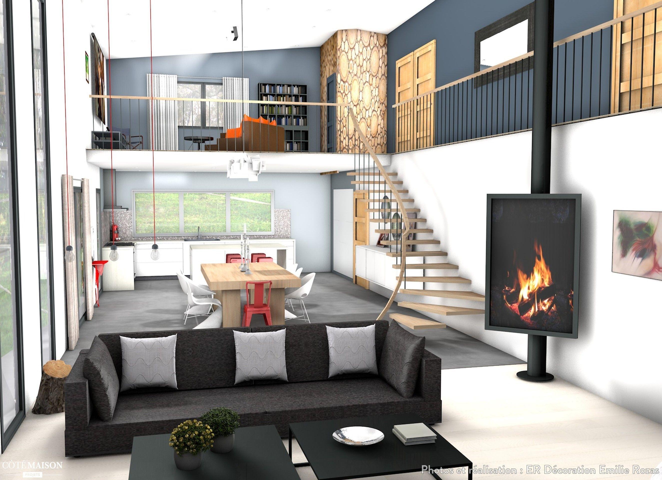Une Realisation 3d D Un Sejour Moderne Villa