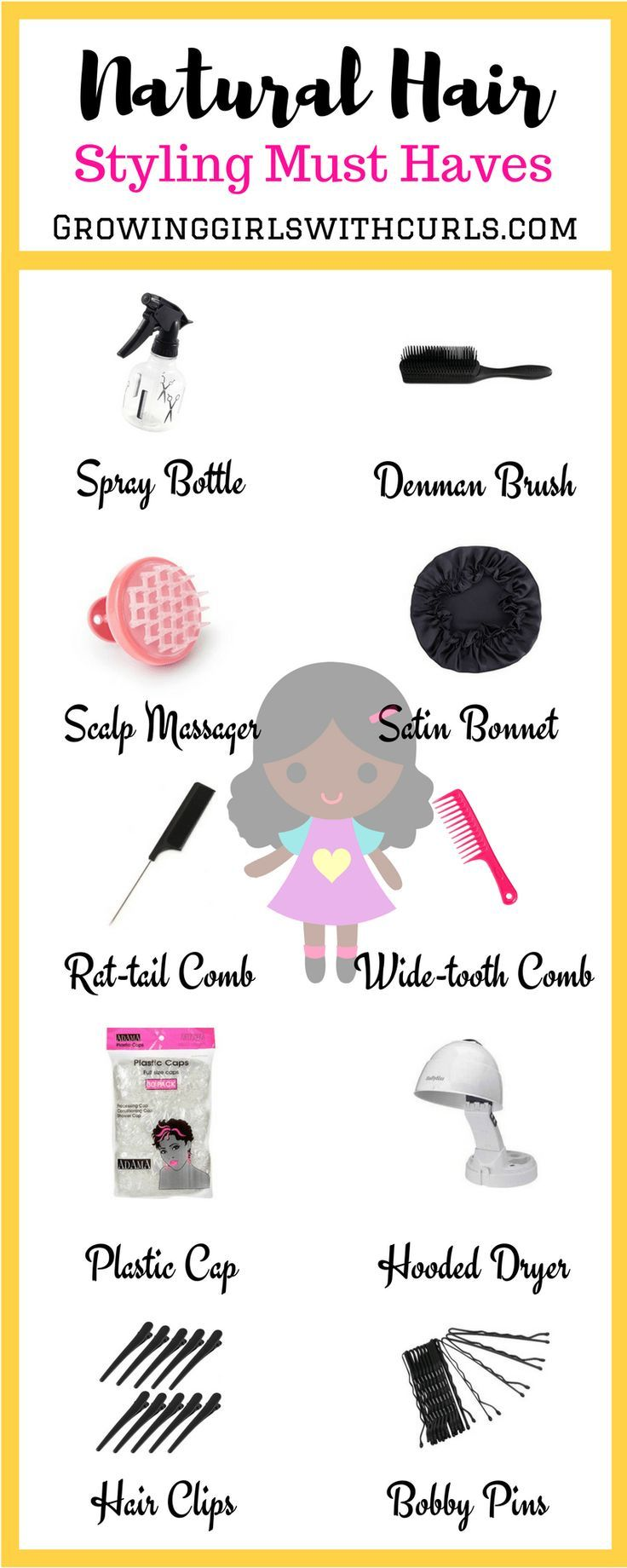Natural Hair Styling Must Haves #naturalhaircare