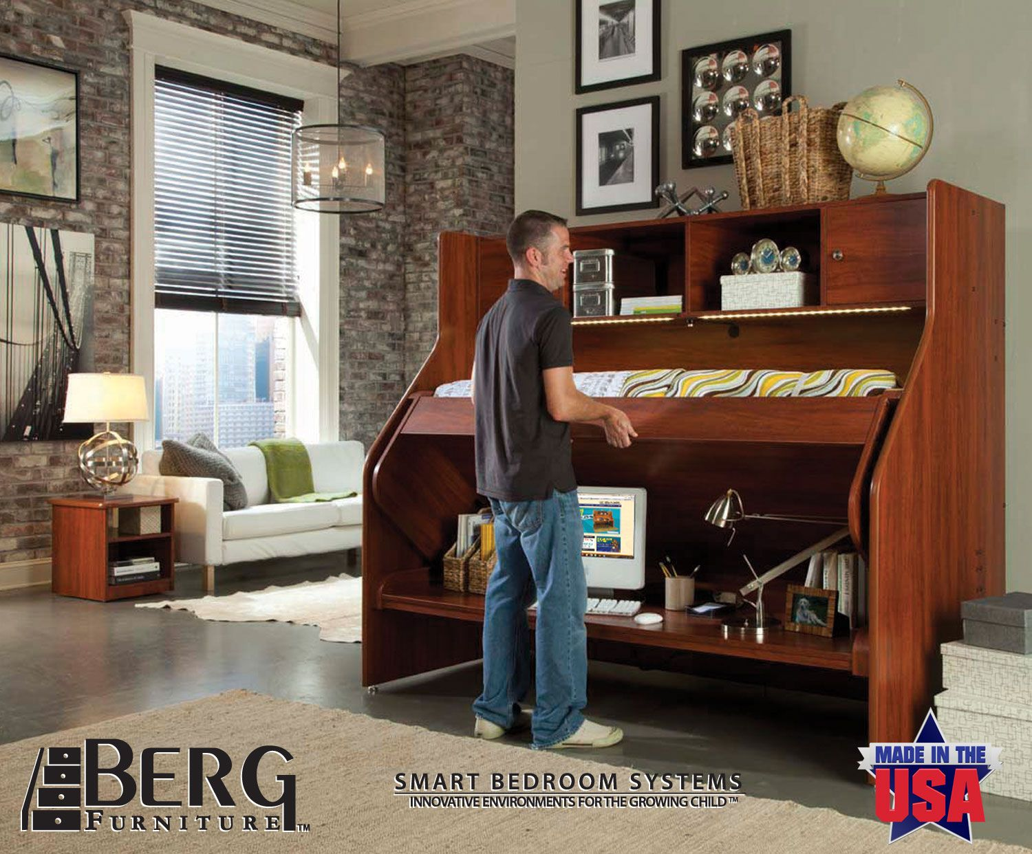 Berg Furniture's Transforming Bed (#78-14). Great For The