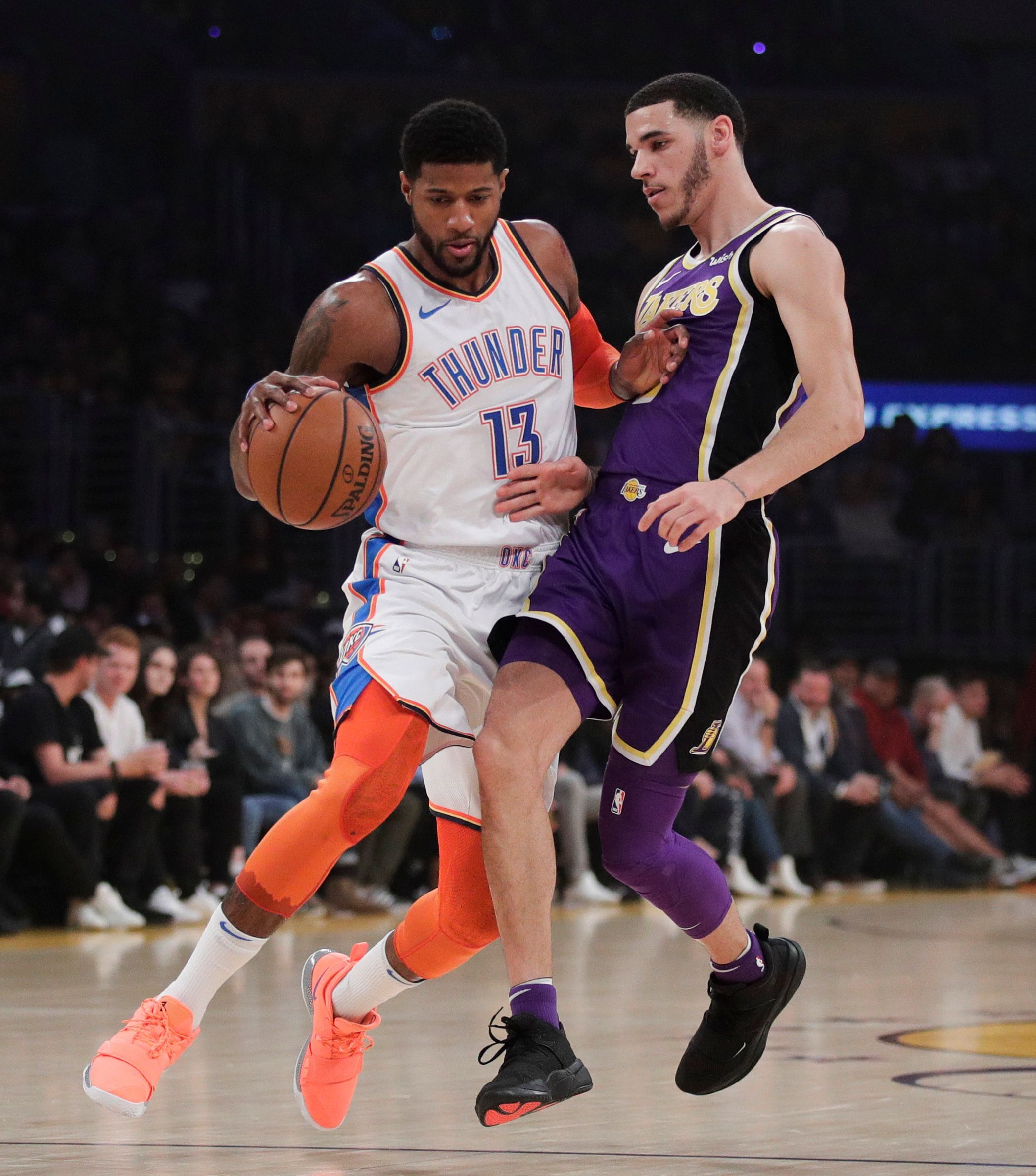 Paul George gets 37 amid boos in OKC s 107-100 win at Lakers ... 2aa9eff45