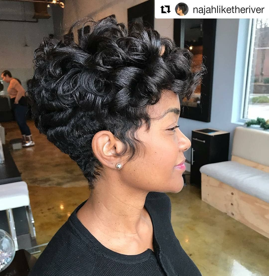 Style From Najahliketheriver Najah Aziz Of Like The River Salon In Atlanta Georgia Repost Najahlikether Short Hair Styles Natural Hair Styles Hair Styles