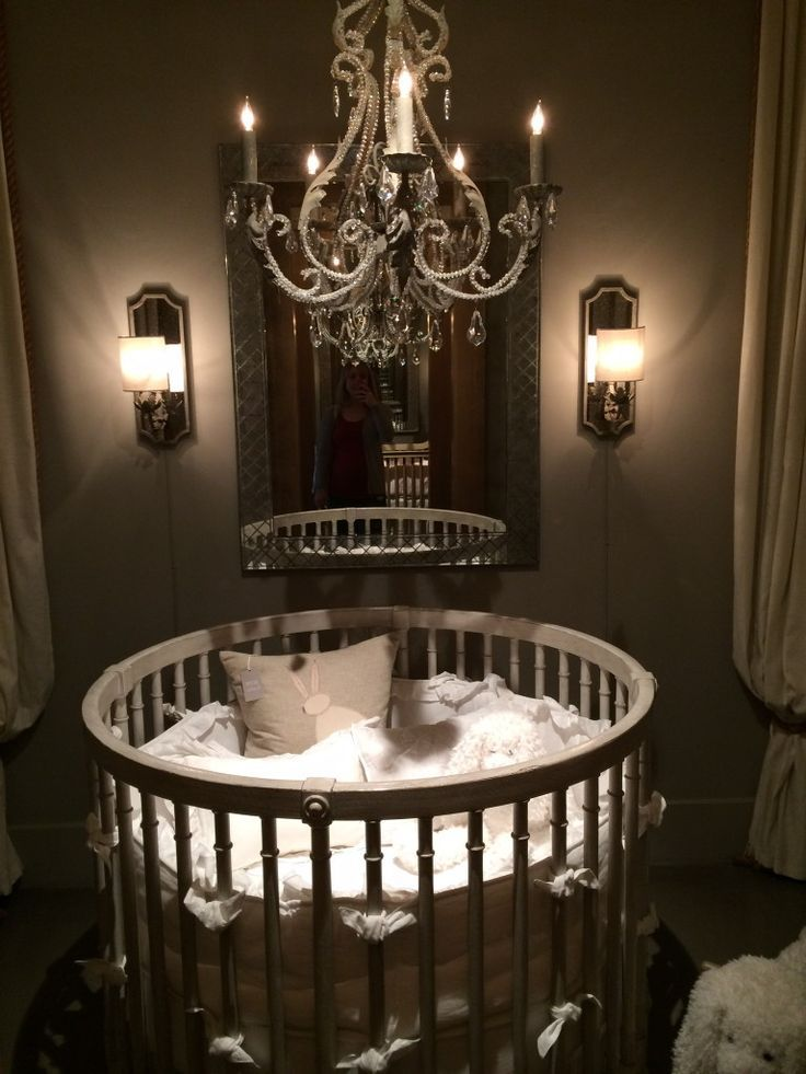 Round Crib from Baby & Child Restoration Hardware - If only .