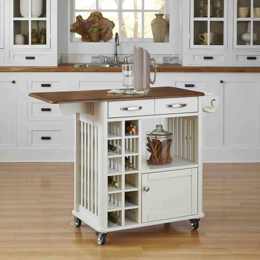 Danville Kitchen Cart White Finish Danville Kitchen
