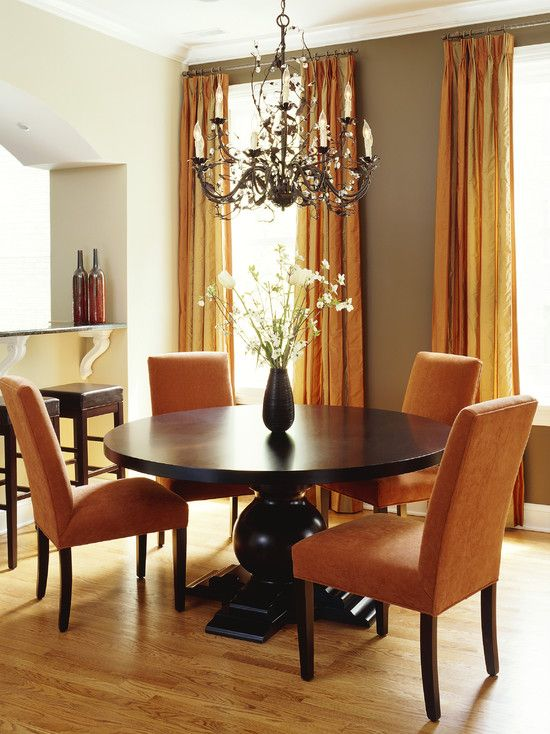 Like The Colors Dining Room Orange Dining Room Design Pictures