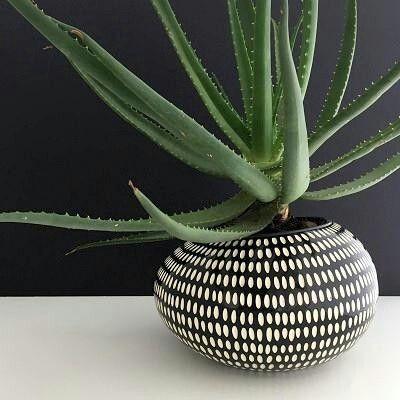 Black and white planter pot design flower arrangement pinterest black and white planter pot design mightylinksfo