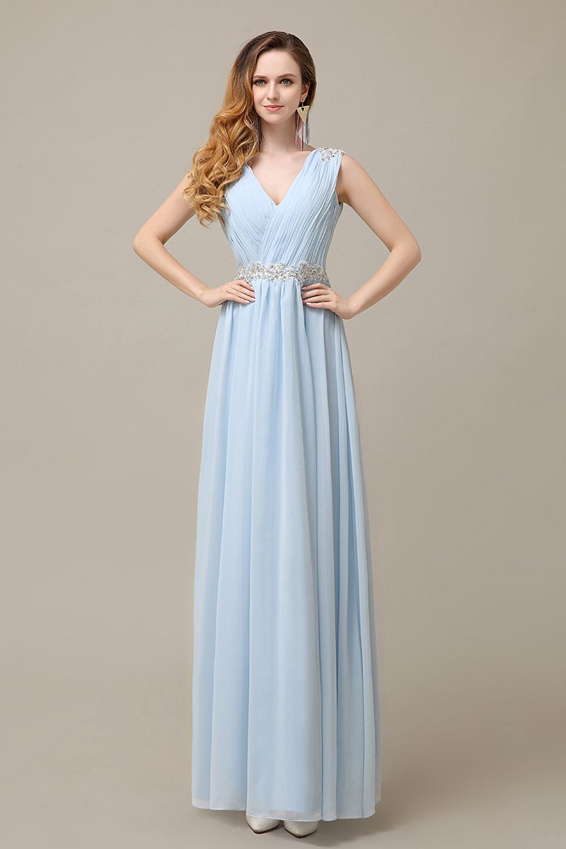 2016 sky blue v neck chiffon cheap simple bridesmaid dress new 2016 sky blue v neck chiffon cheap simple bridesmaid dress new arrive hot sale plus ombrellifo Image collections