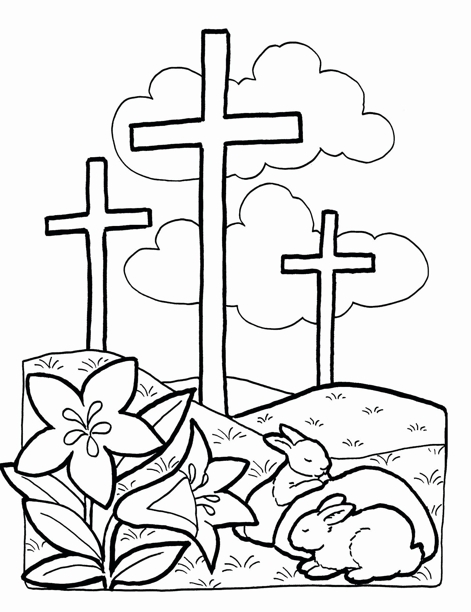 Cross With Flowers Coloring Pages Unique Easter Coloring Pages Jesus Christ Free Easter Coloring Pages Easter Coloring Pages Printable Spring Coloring Pages
