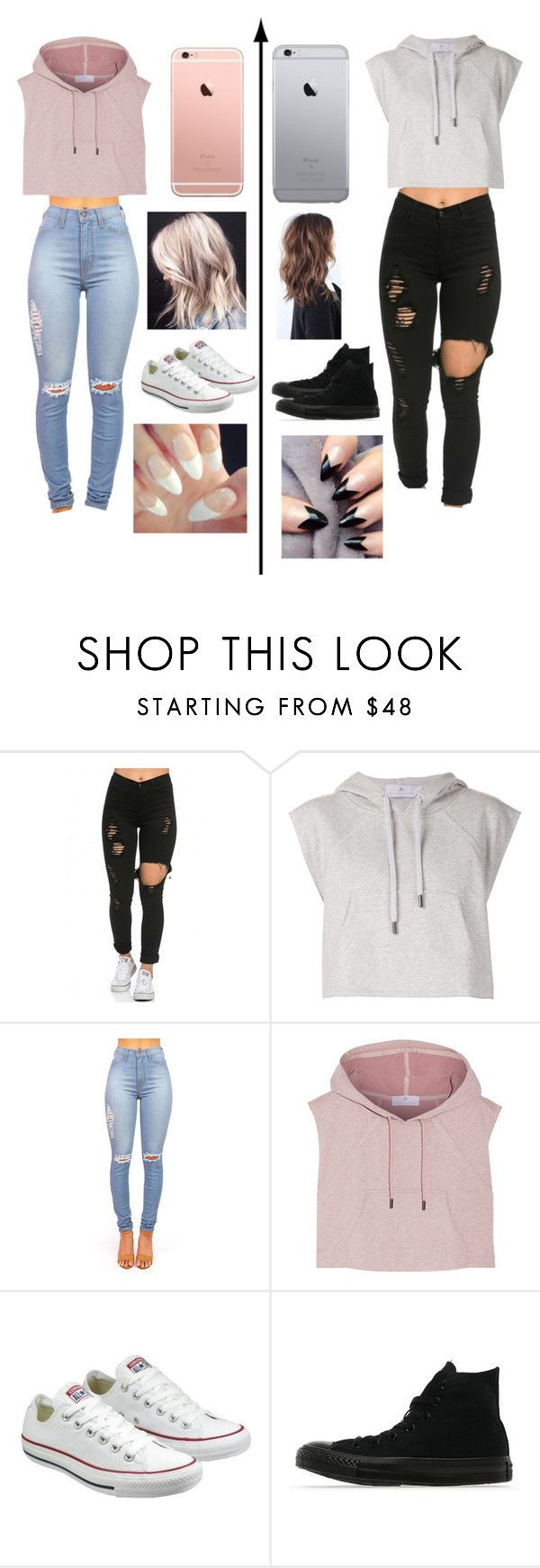 """""""Girly and not so girly"""" by mags07 ❤ liked on Polyvore featuring adidas and Converse"""