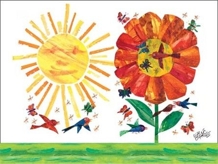 Eric Carle\'s Garden Canvas Wall Art | Playrooms, Nursery and Kids s