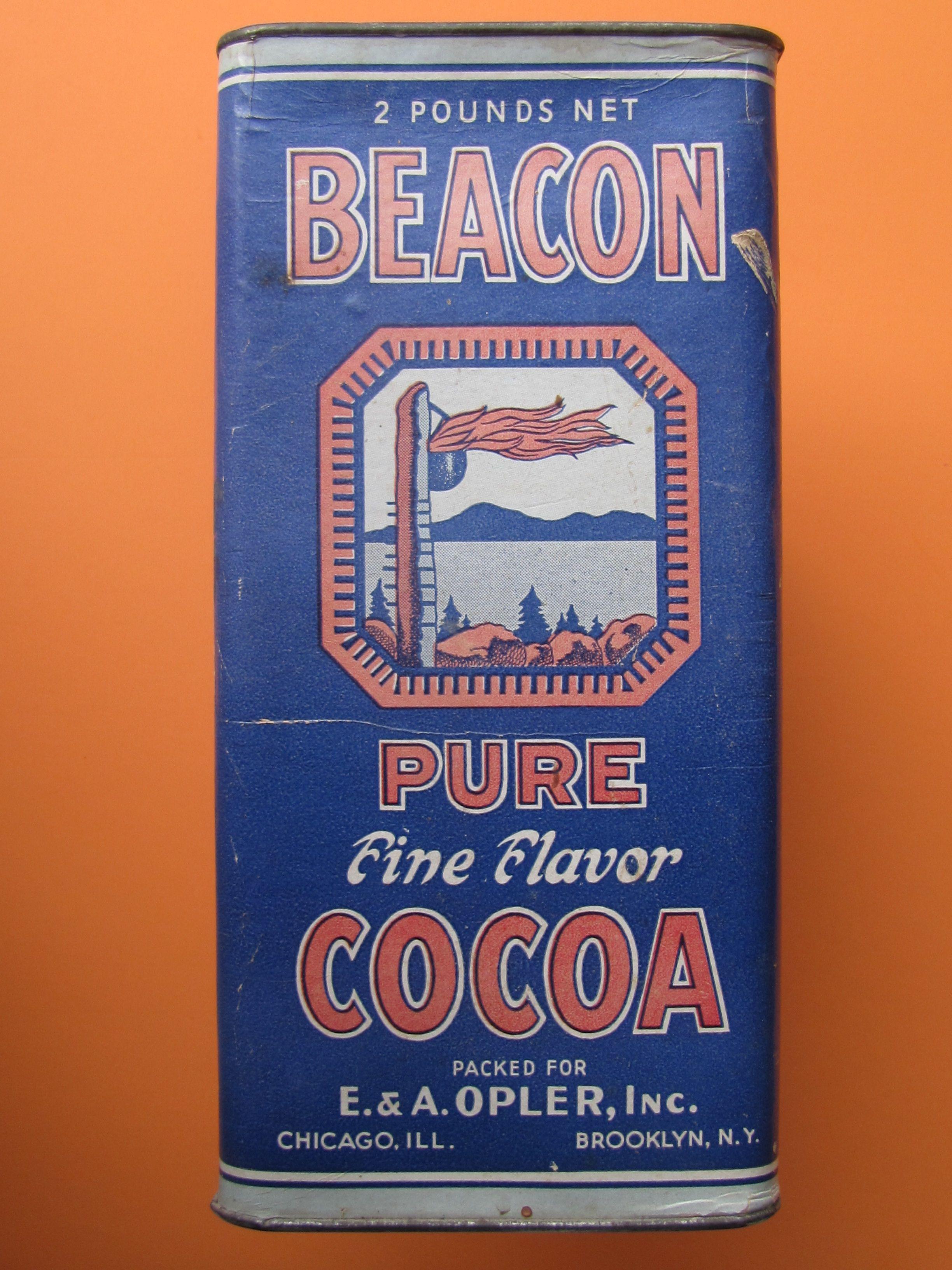 Beacon cocoa 1920s my collection vintage coffee tea