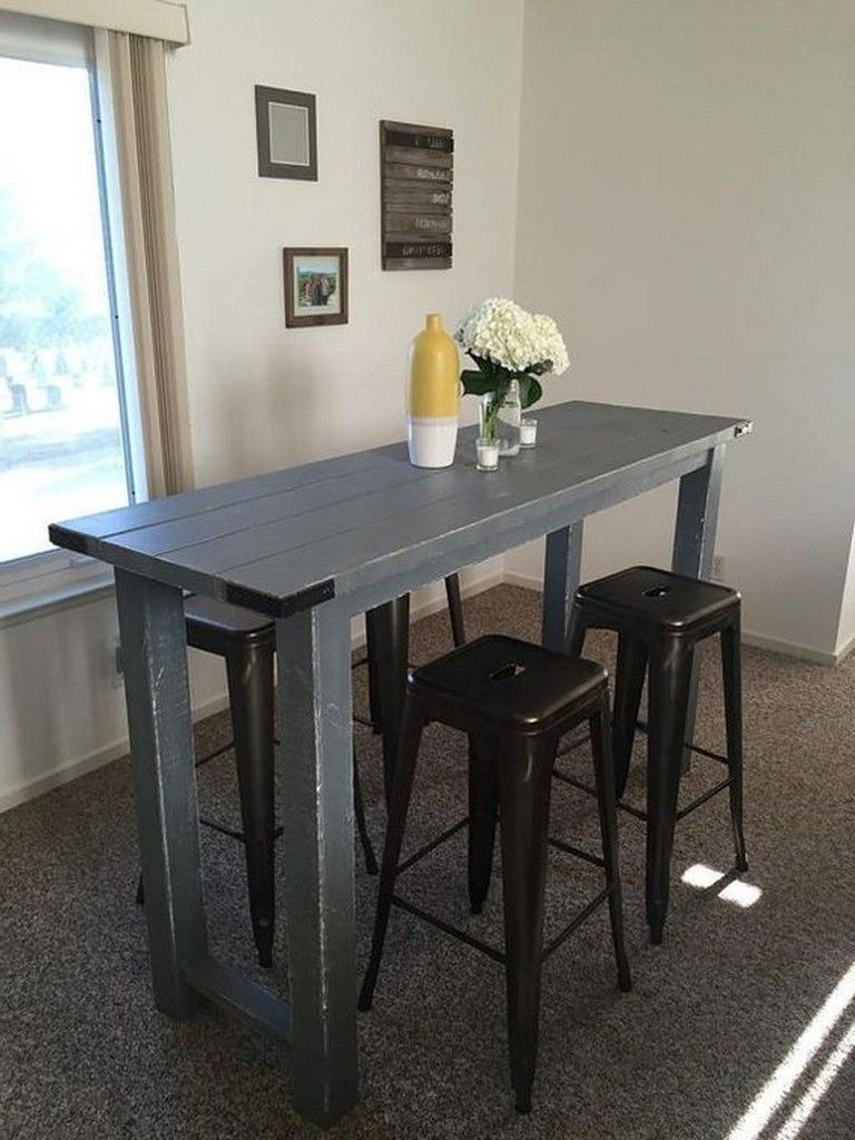 63 Stunning Small Dinning Table Furniture Ideas Kitchen Bar Table Bar Height Dining Table Small Kitchen Tables