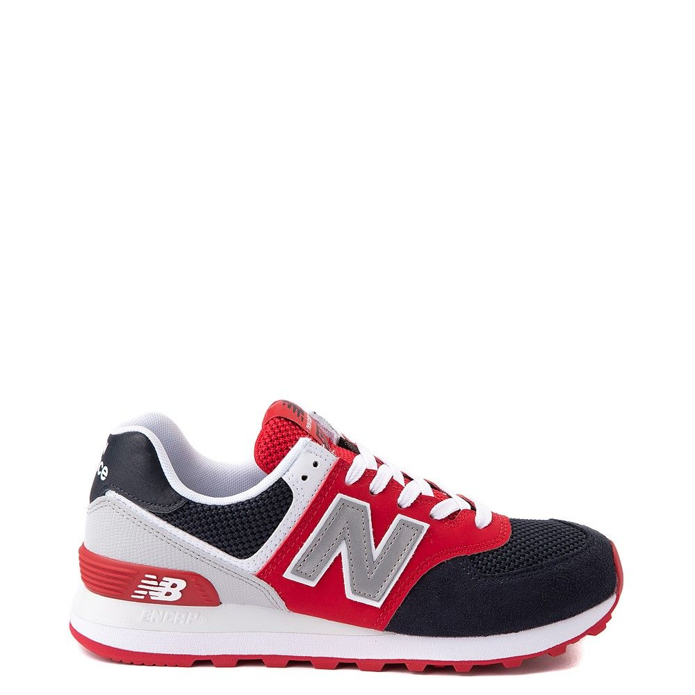 Womens New Balance 574 Athletic Shoe - Navy / Red / White ...