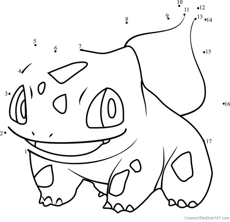 Pokemon Bulbasaur Dot To Dot Pokemon Bulbasaur Bear Coloring Pages Dog Coloring Page
