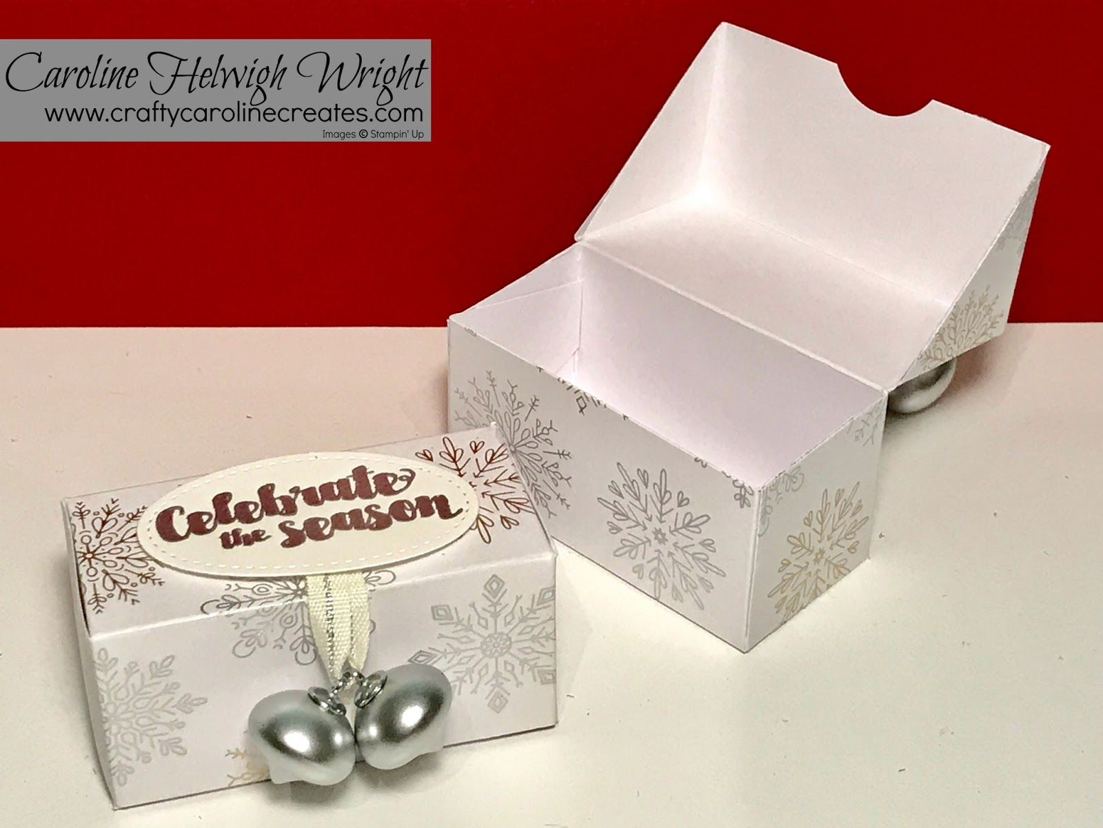 Year Of Cheer Gift Box With Mini Ornaments Video Tutorial With Stampin Up Products Christmas Gift Box Gift Box Template Cheer Gifts