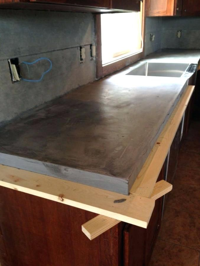 Pour In Place Concrete Countertop Forms Cast Countertops Poured