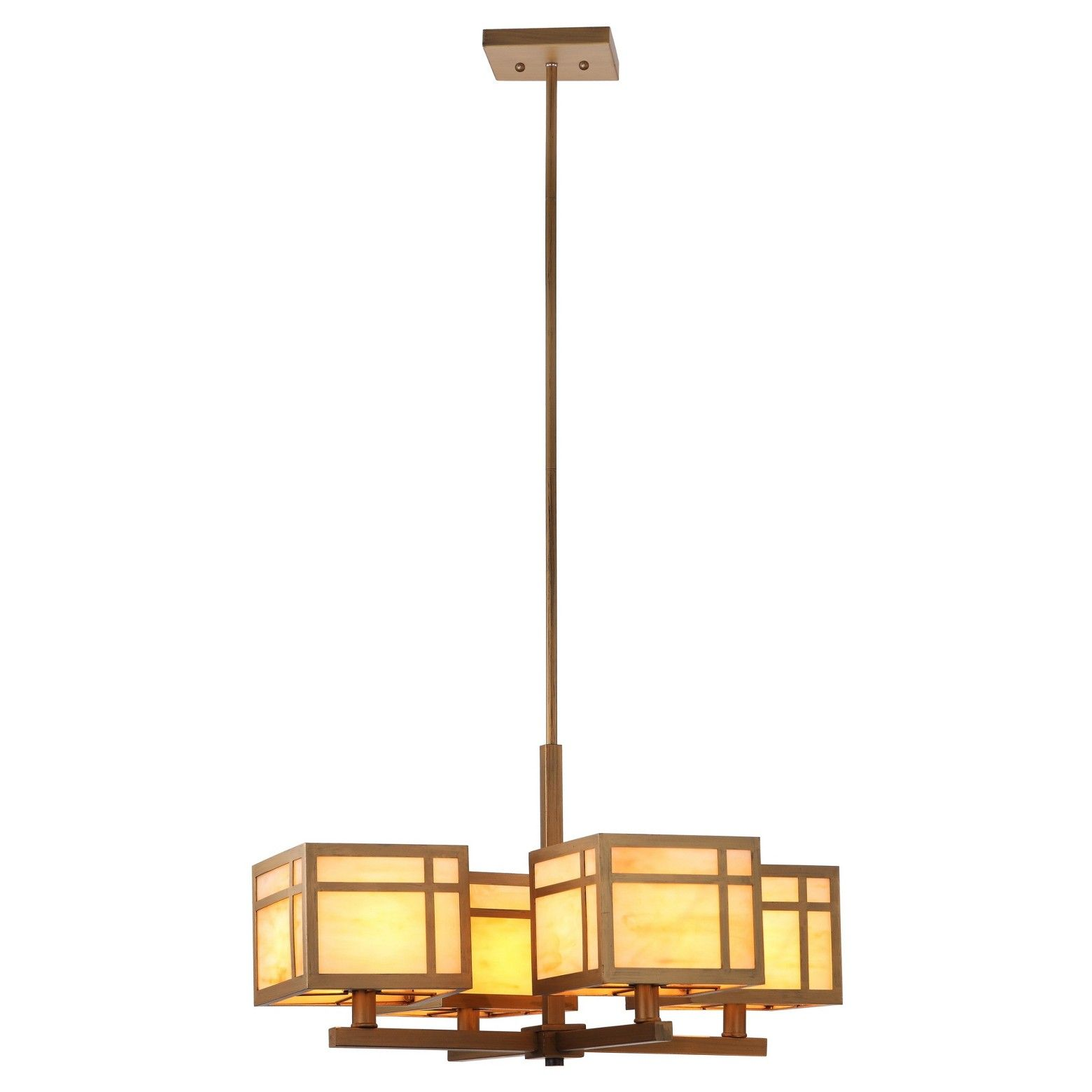 Craftsman Chandelier Safavieh Gold