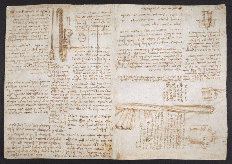 leonardo da vinci notebook 23 The British Library Has Fully Digitized 570 Pages of Leonardo da Vincis Visionary Notebooks