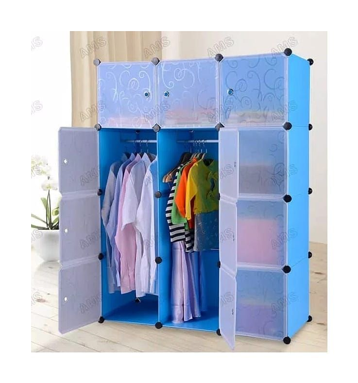 Wardrobe stacking Material: Plastic resin + high-strength steel structure …