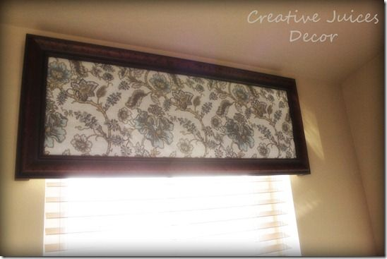 Make A Window Valance Out Of An Old Picture Or Mirror