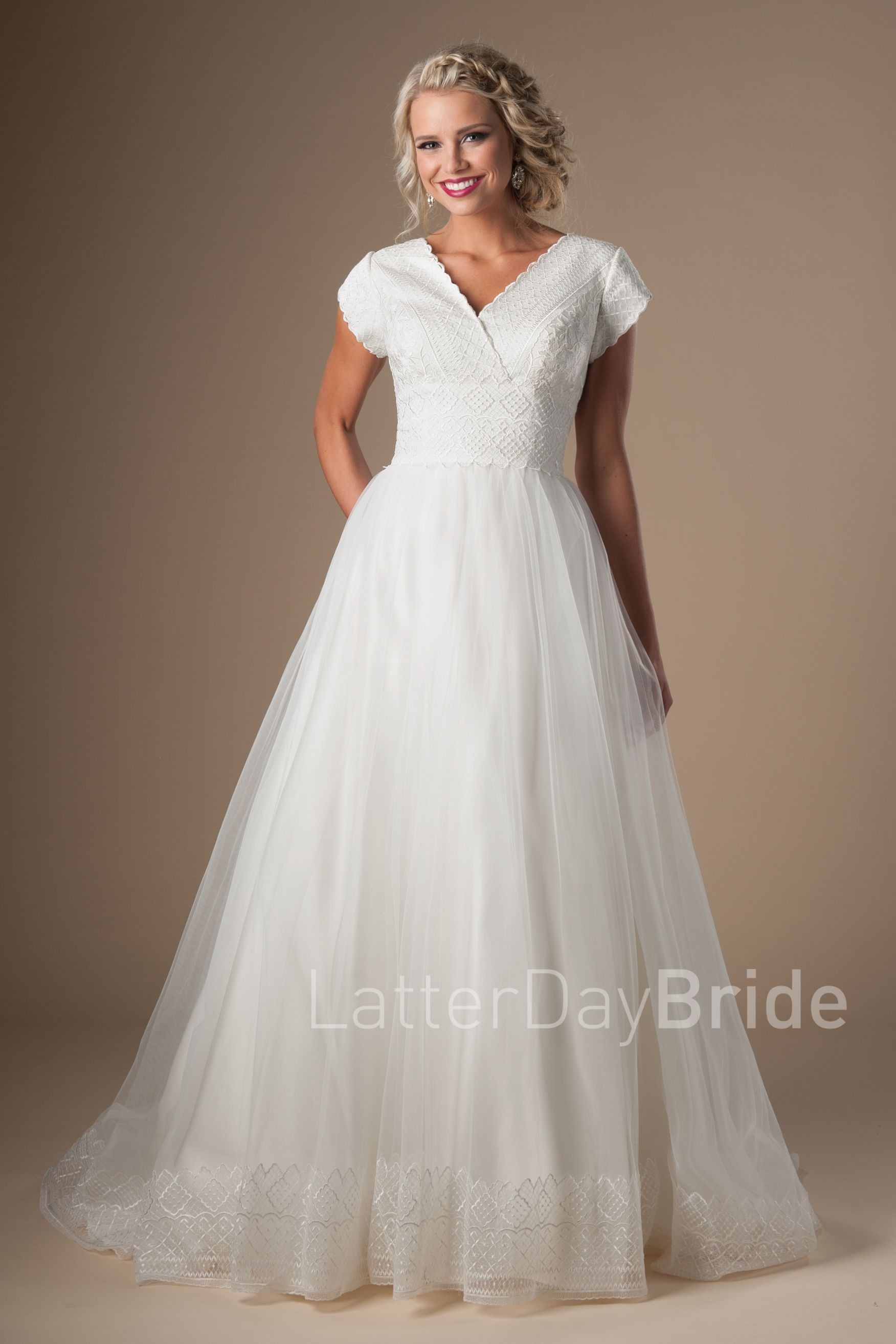 Modest long sleeve lace wedding dresses  Sylveon  Colors and Flowers  Pinterest  Modest wedding Modest