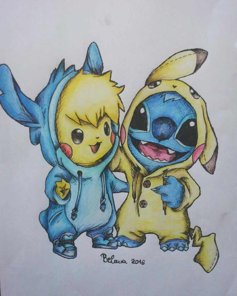 Pikachu And Stitch In Onesies Drawing That I Did Last Year Hope You Like It Lilo And Stitch Drawings Cute Disney Drawings Pikachu Drawing
